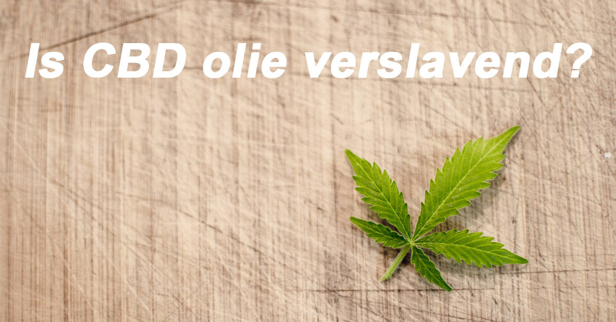 Is CBD olie verslavend?